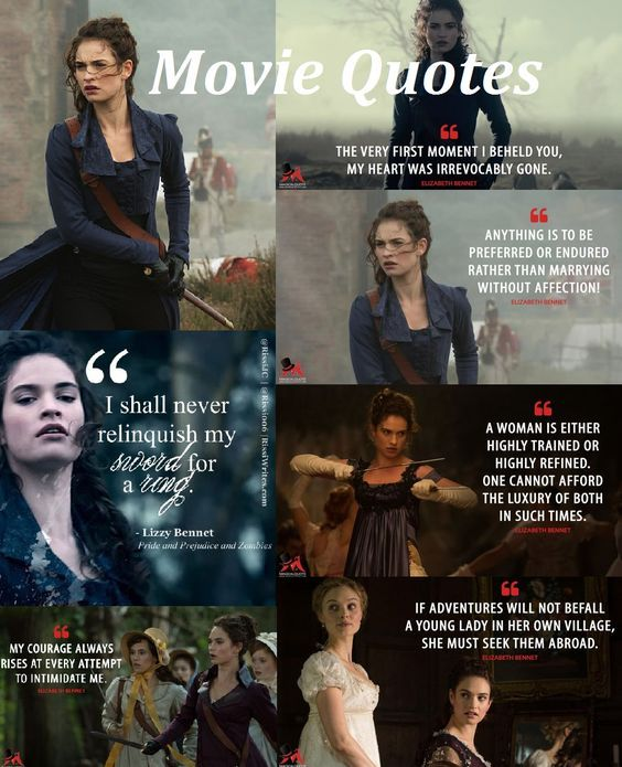 Elizabeth Bennet S Quotes In Ppz 2016 Pride And Prejudice And Zombies Pride And Prejudice Prejudice Quotes