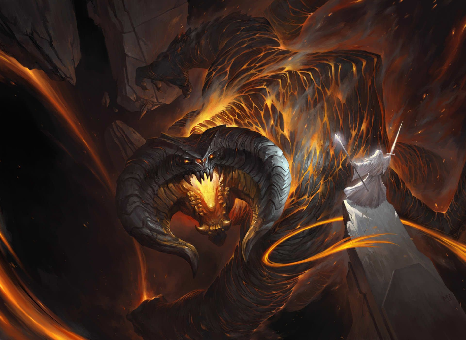 High Definition Mobile Phone And Desktop Wallpapers Balrog Gandalf Lord Of The Rings