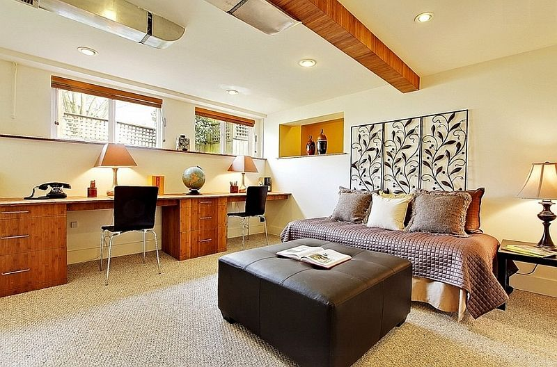 Basement Office Design Property basement home office design and decorating tips | basements