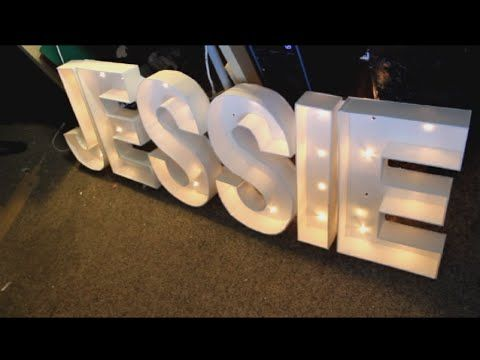 Dollar Tree Diy Giant Lighted Marquee Love Letters Youtube Lighted Marquee Letters Diy Marquee Letters Light Letters Diy