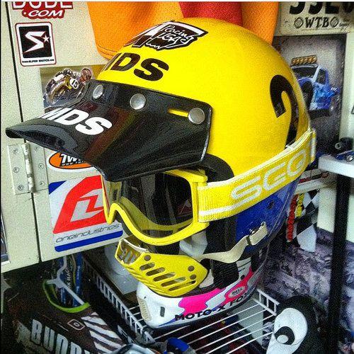 Georges Jobe S Mds Helmet Flickr Photo Sharing Motocross Helmets Vintage Motocross Vintage Helmet