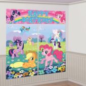 My Little Pony Scene Setter 5pc- Scene Setters- Birthday Decorations- Birthday Party Supplies - Party City