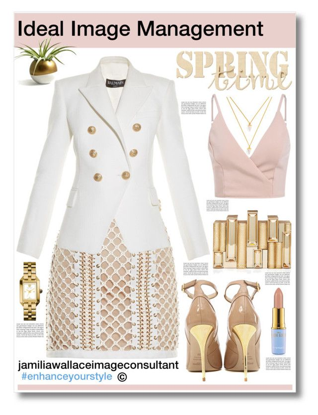 """""""Ideal Image"""" by jamilia-wallace on Polyvore featuring BaubleBar, Balmain, Rauwolf and Tory Burch"""