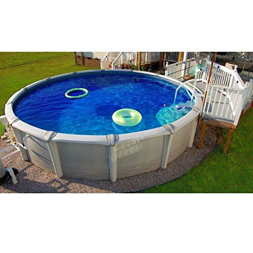 24′ HD – Round Overlap Above Ground Pool Liner, 24 ft ...