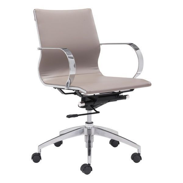 Glider Low Back Office Chair With Armrests Multiple Colors Adjustable Office Chair Modern Gliders High Back Office Chair