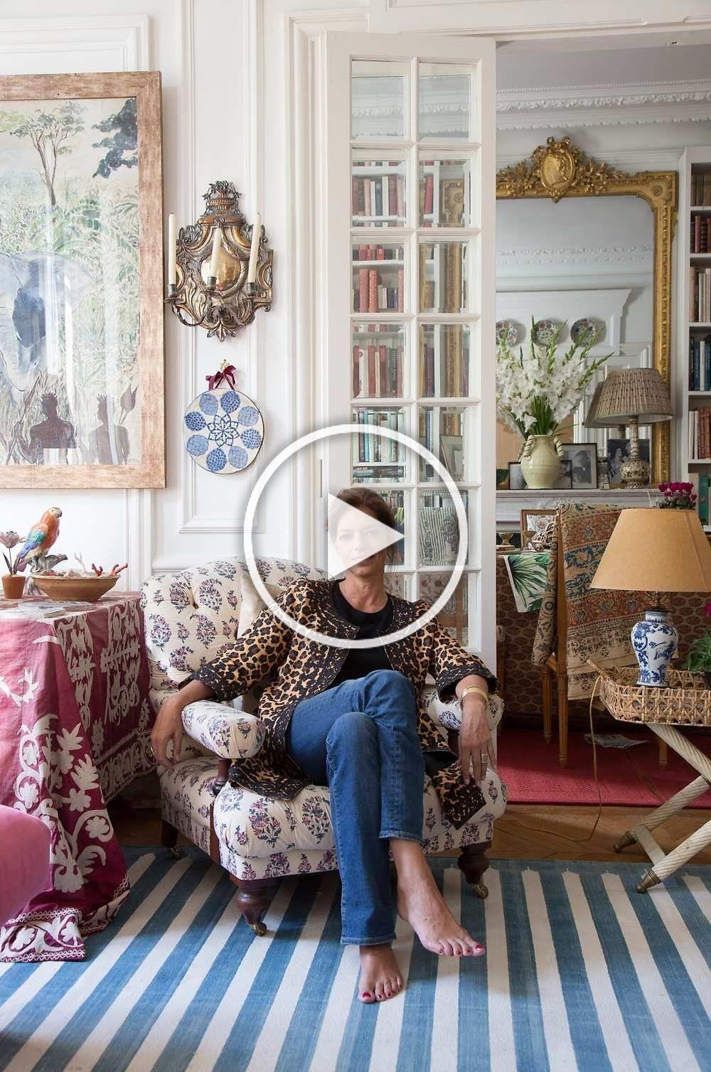 Remember Textile Designer Carolina Irving S Stunning Parisian Home