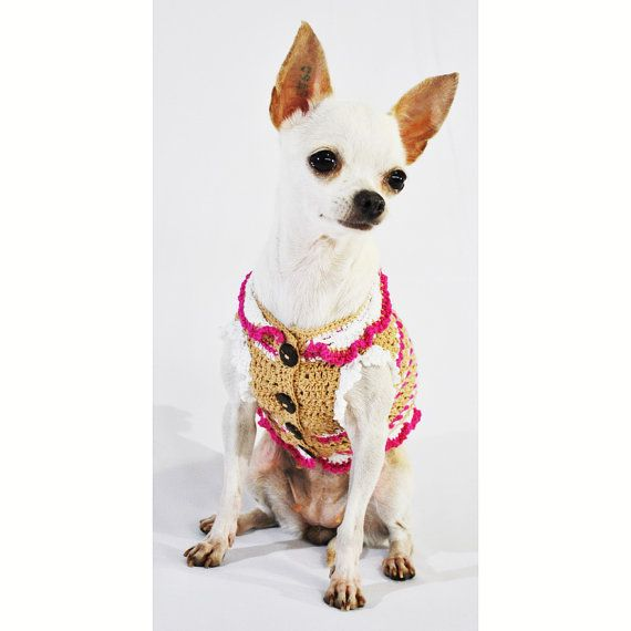 Unique Crochet Warm Dog Clothes Small Pink Puppy by myknitt | a a ...