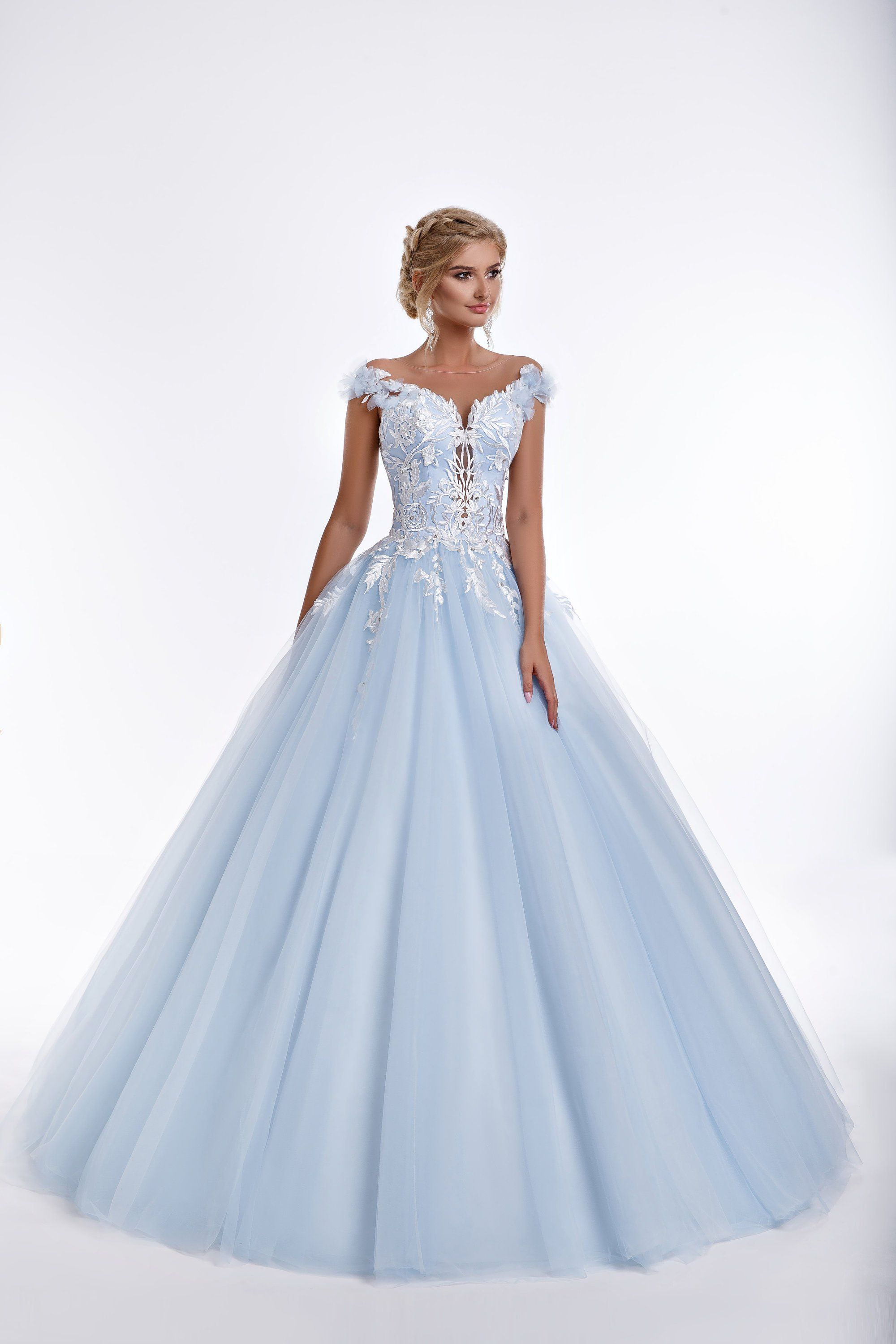 Princess Style Beaded Lace and Tulle Ball Gown Wedding