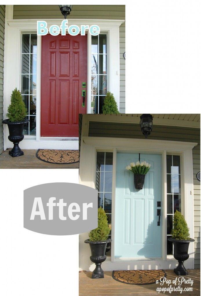 what color to paint front door 2Green House Blue Door Part 2 Before  After  Front doors