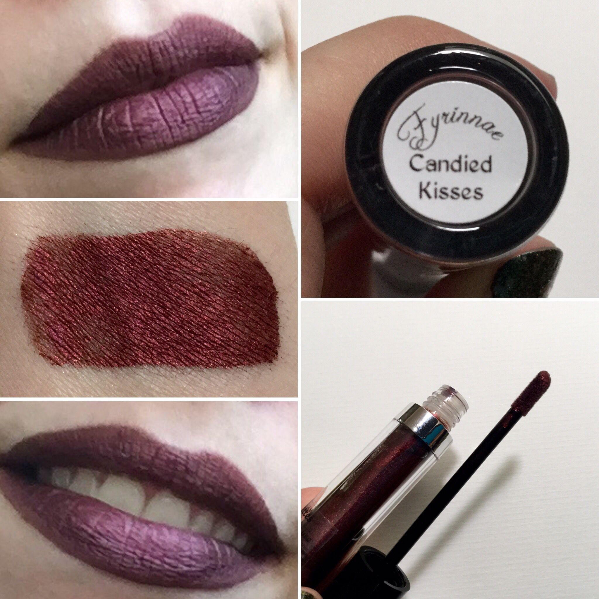Fyrinnae liquid to matte metallic dark red lipstick - Candied ...