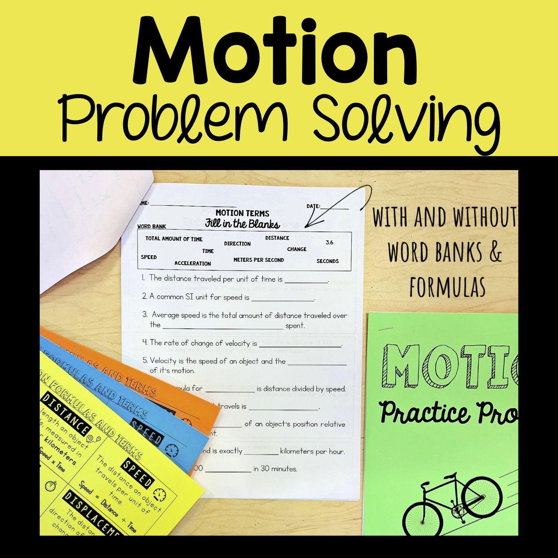 Motion Problem Solving Set Problem Solving Word Problems Solving