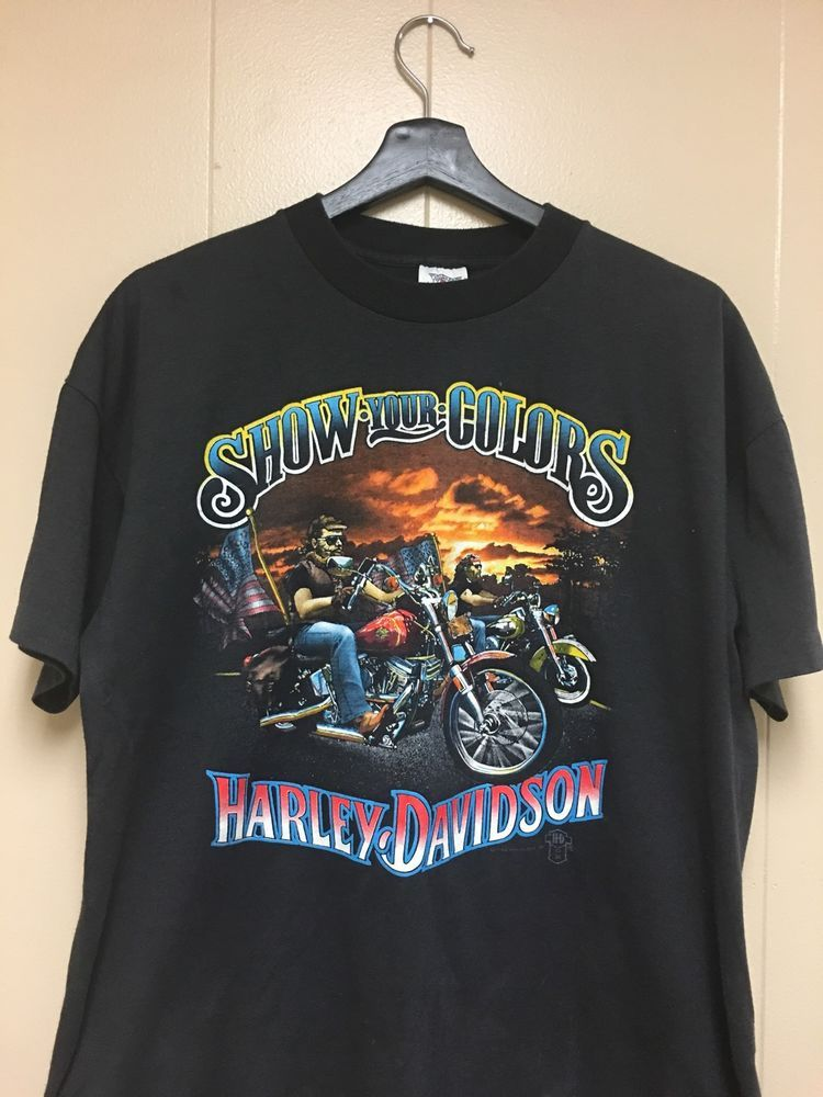 Vintage 1982 Show Your Colors Harley Davidson Shirt | eBay | 80s 90s