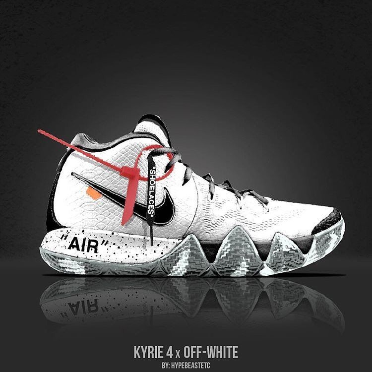 new york c2a0e cb3d3 Off-White Kyrie 4s Concept Wear or Tear ______ #kyrieirving ...