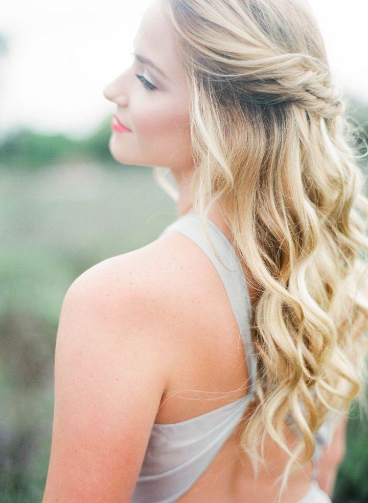 Lovely Double Twist, Half Up Half Down Wedding Hair | Weddings, Prom ...