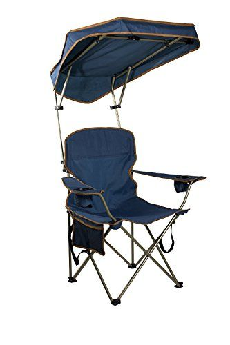 Introducing Quik Shade Folding Portable Chair With Sun Canopy For Patio Outdoor Beach Camping New Great Product And Follow Us More Updates