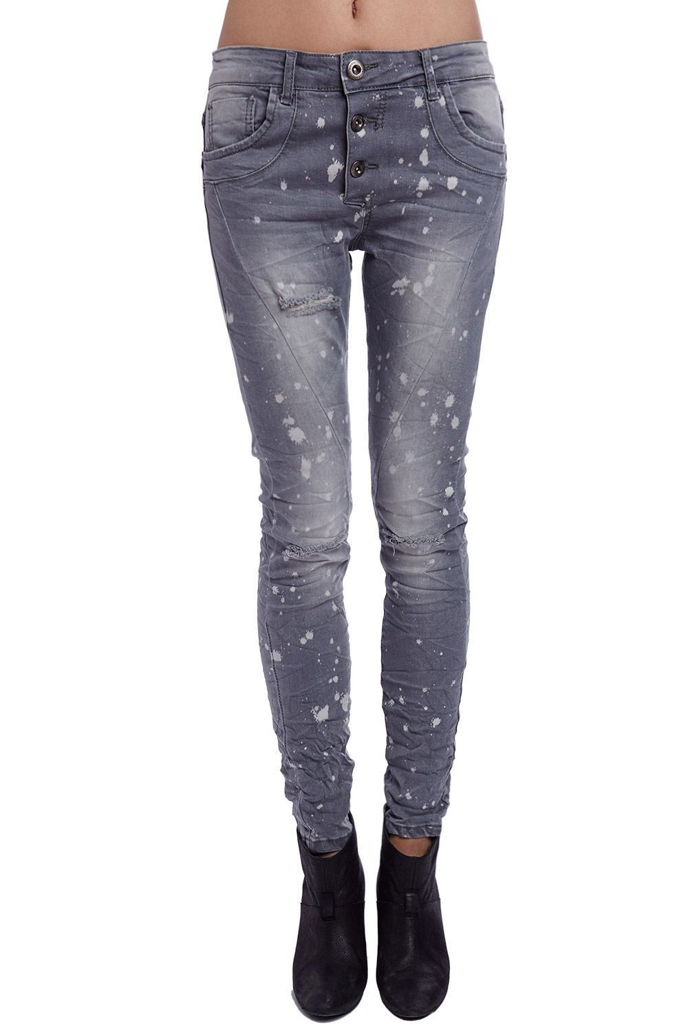 Jeans In Washed Gray With Ripped Knee  9e9d7f6ca4