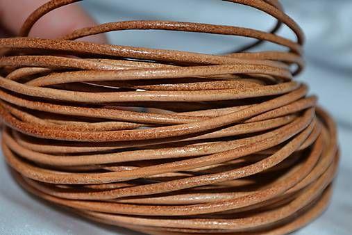 Šnúrka kožená natural, 2mm, 0.39€/meter