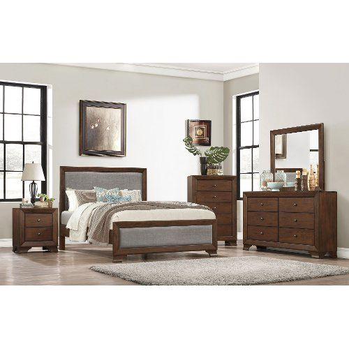 Casual Contemporary Brown 4 Piece Queen Bedroom Set ...