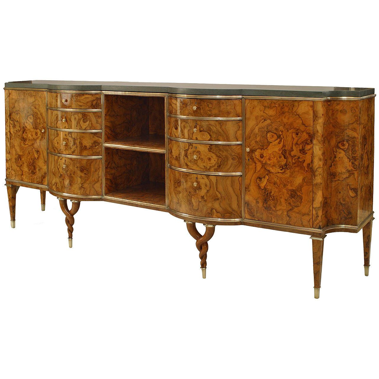 Important 1940s italian burl root sideboard attributed to tomaso buzzi 1