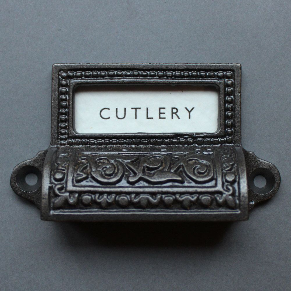 2 Cast Iron  Drawer or Cabinet pull with a knob in the center
