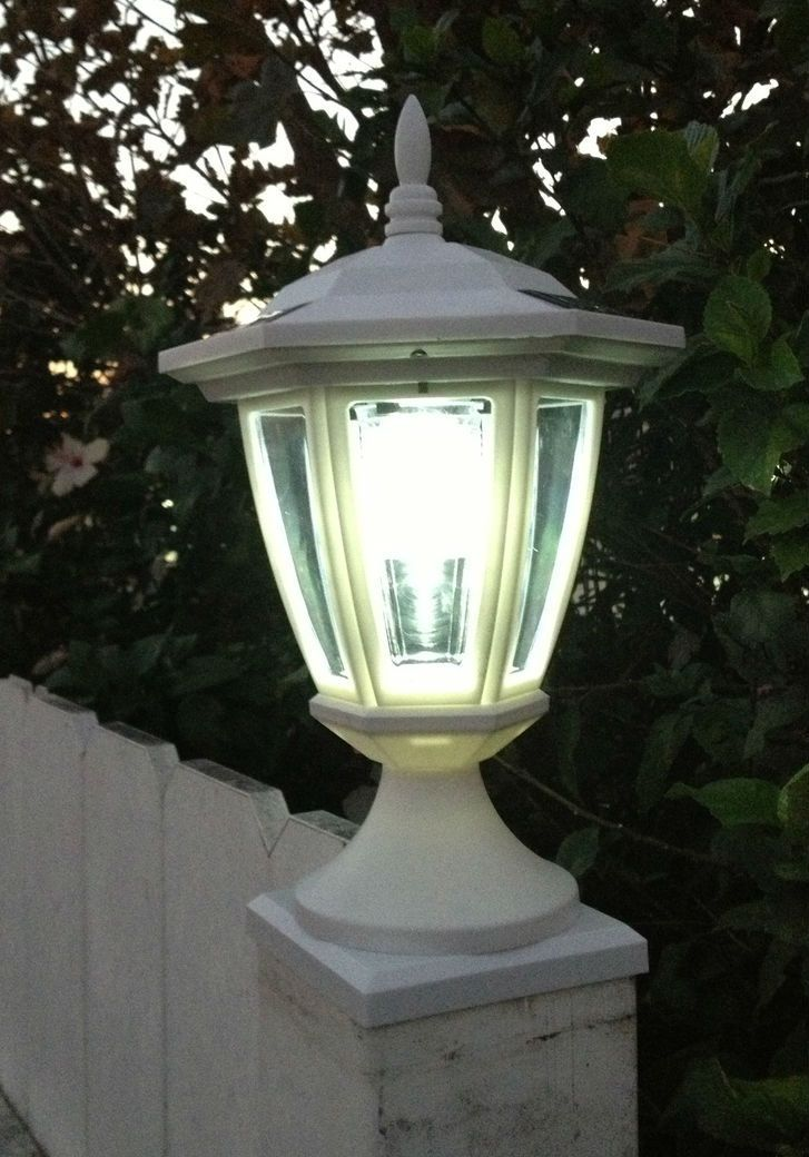 Solar Deck Post Cap Lights With Carriage Lanterns, Wood U0026 Vinyl Posts