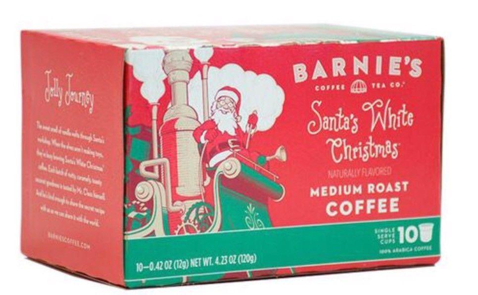 2 Barnie\'s Santa\'s White Christmas Coffee-Medium Roast 10 ct. K-cups