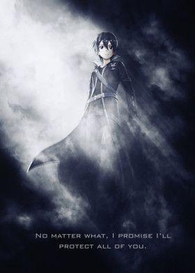 Kirito / Sword Art Online /SAO / Tagline | Displate thumbnail