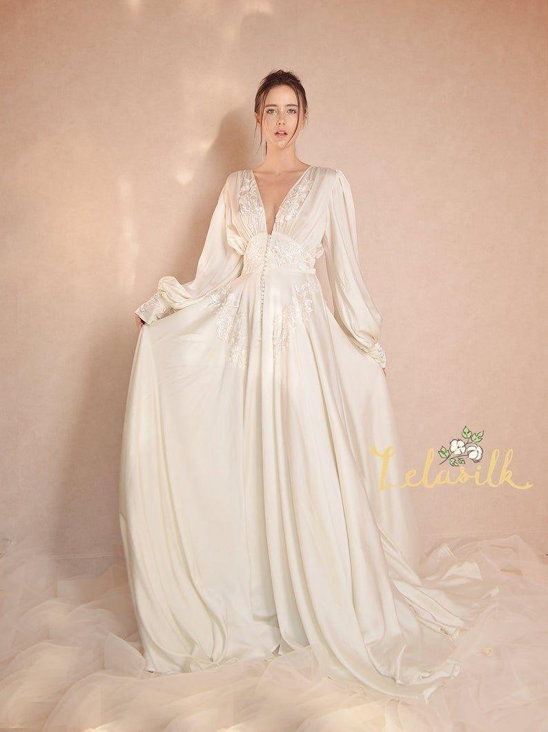 Silk Wedding Dress Used
