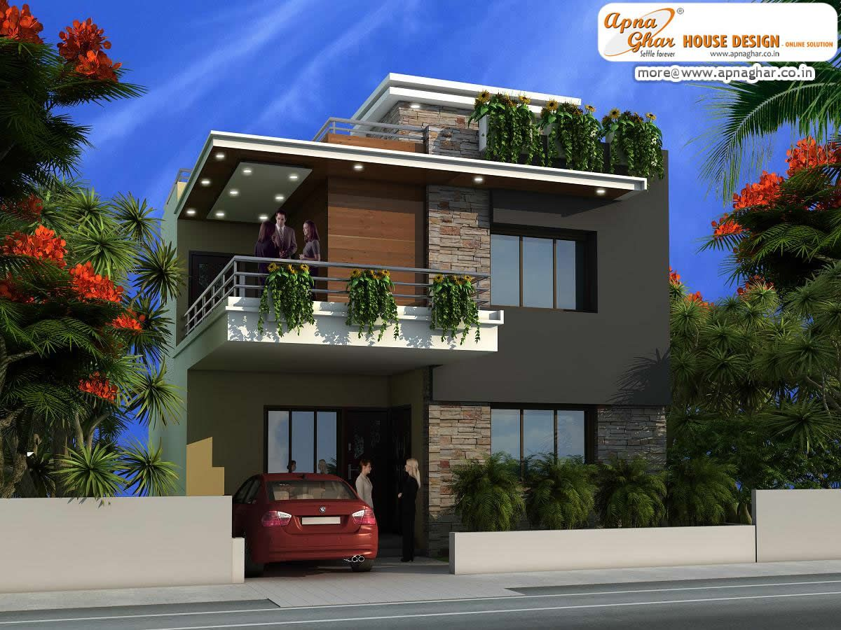 Modern duplex house design like share comment click this link to view more details http - Duplex home elevation design photos ...