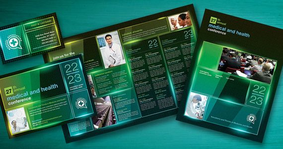 Medical Conference Brochure Template By Stocklayouts  Brochure