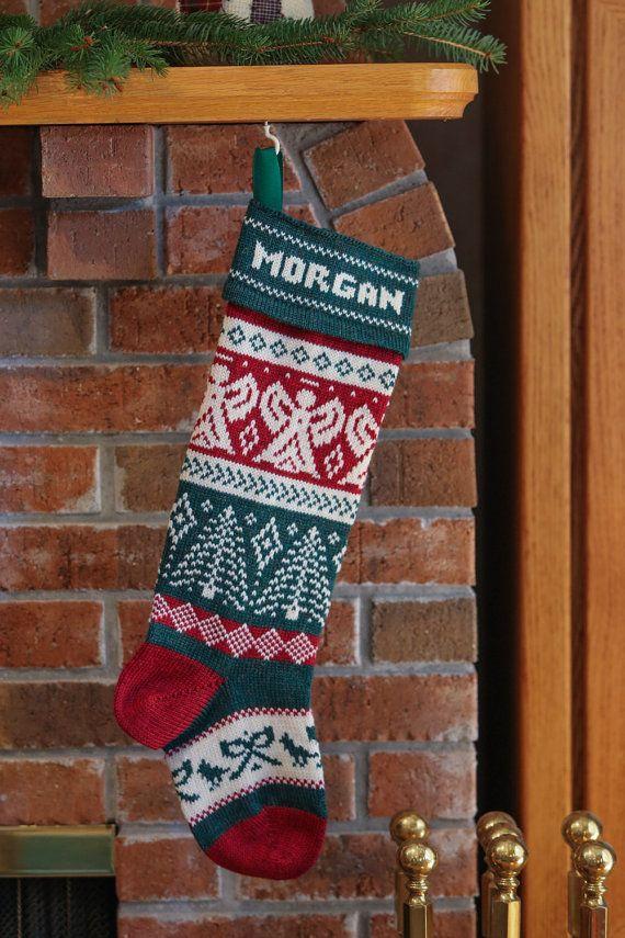Personalized Handmade Christmas Stocking, Angel   Handmade ...