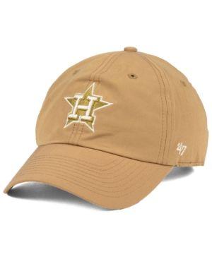 12e35a9f678a18 '47 Brand Houston Astros Harvest Clean Up Cap - Tan/Beige Adjustable. '