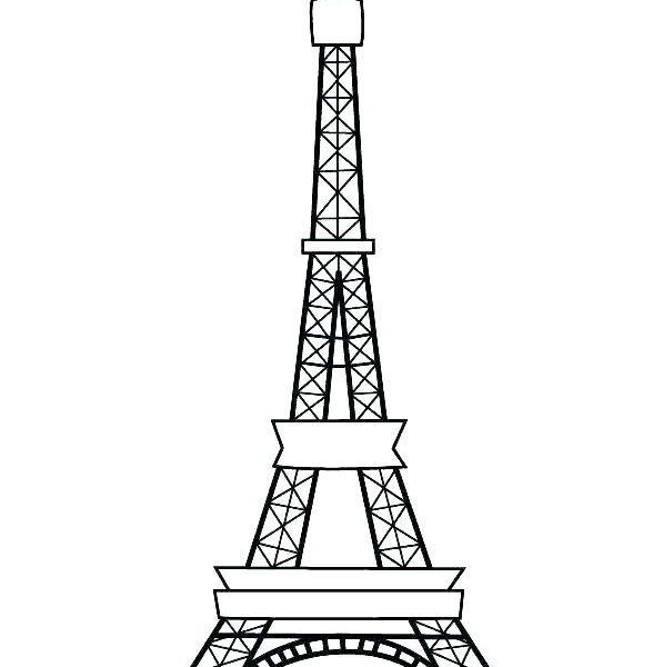 Printable Eiffel Tower Coloring Pages Unique 28 Collection Of Paris