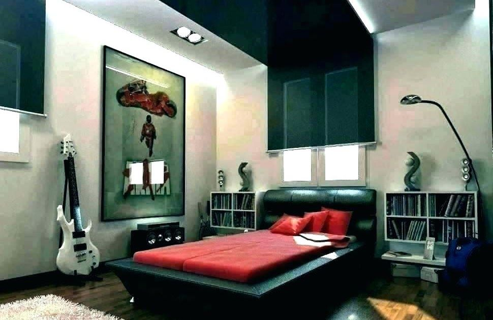 Modern Male Bedroom Decorating Ideas In 2020 Small Apartment