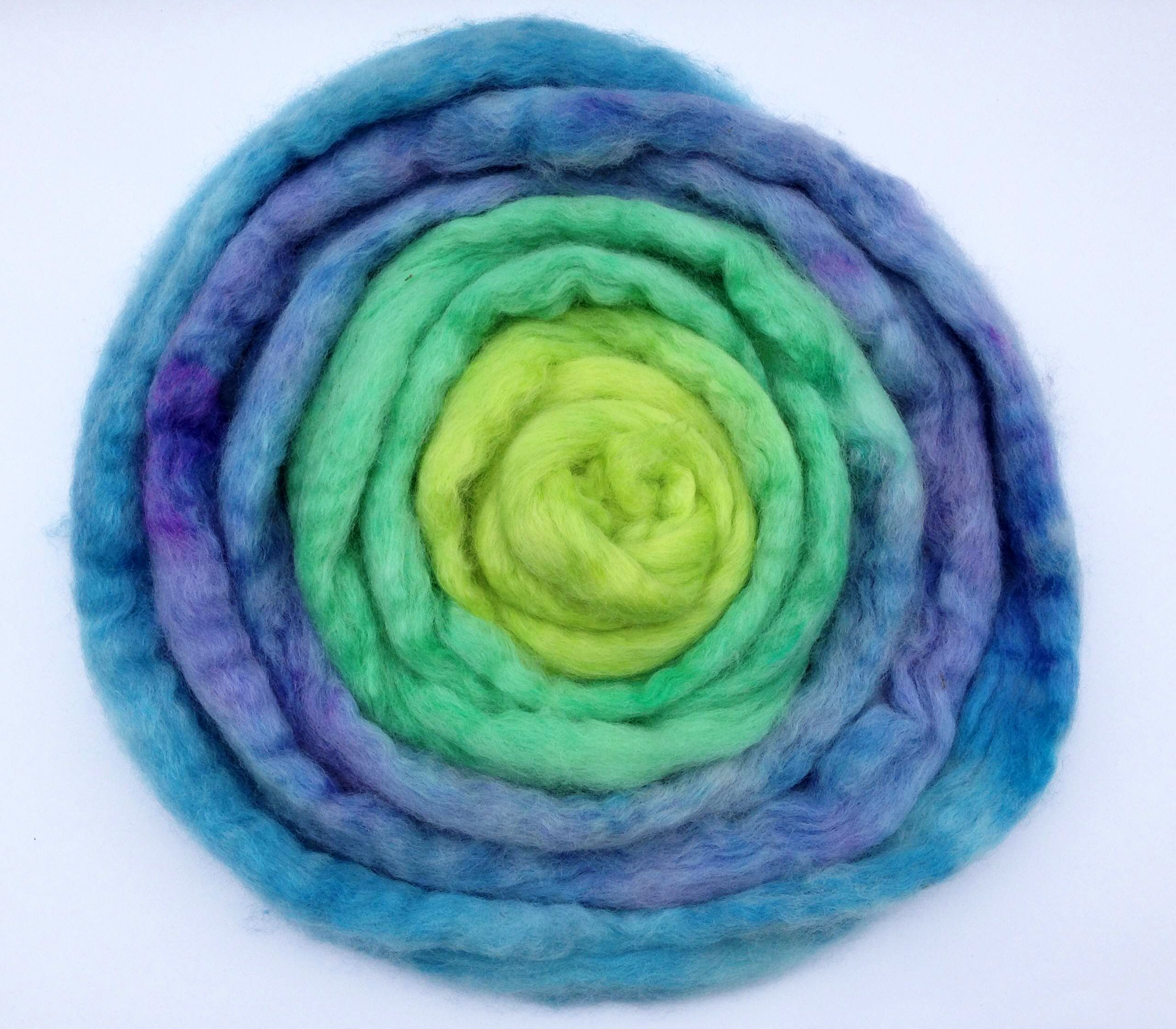 Guest Post HandDyeing Fiber With Long Color Repeats