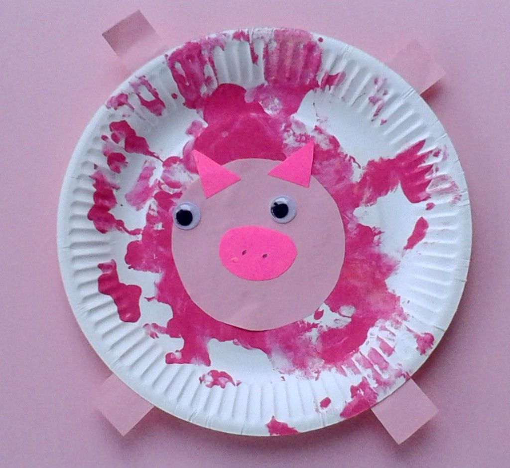 paper plate pig & Crafts for Toddlers - Paper Plate Baby Farm Animals | Activities ...
