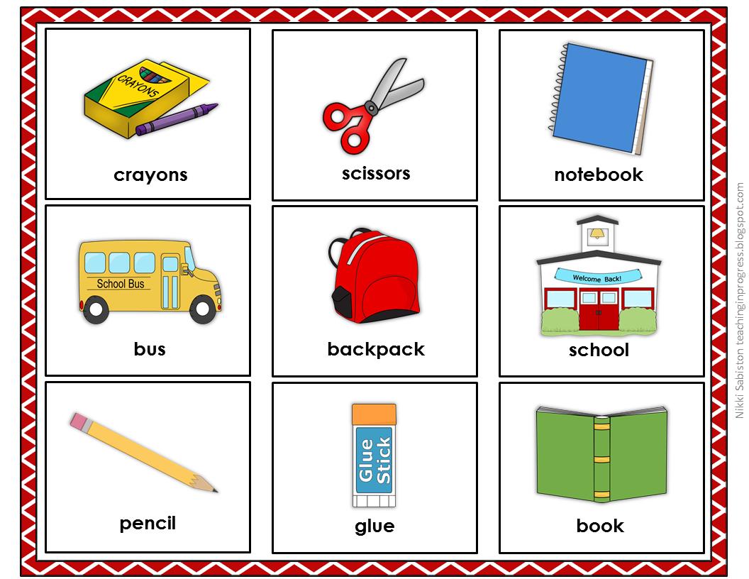 Back To School Vocabulary Activities