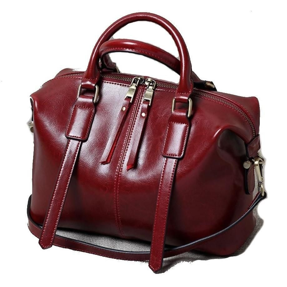 f434ac903dce JeHouze Womens Genuine Leather Handbags Shoulder Handbag Tote Top Handle Bag  Cross Body Bags Satchel for Ladies Purse(Red Wine)