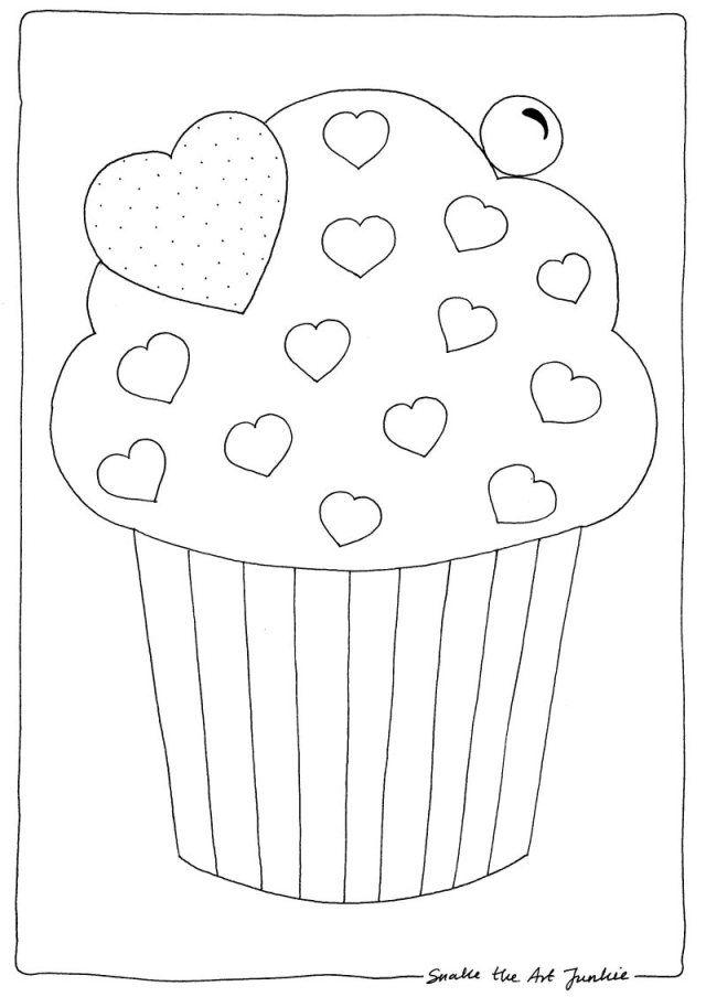 muffinki  kolorowanka na tłusty czwartek  kolorowanki