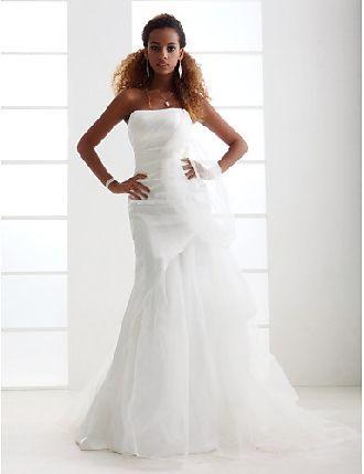 A-Line Appliqued Sleeveless Long Bateau Lace&Tulle Wedding