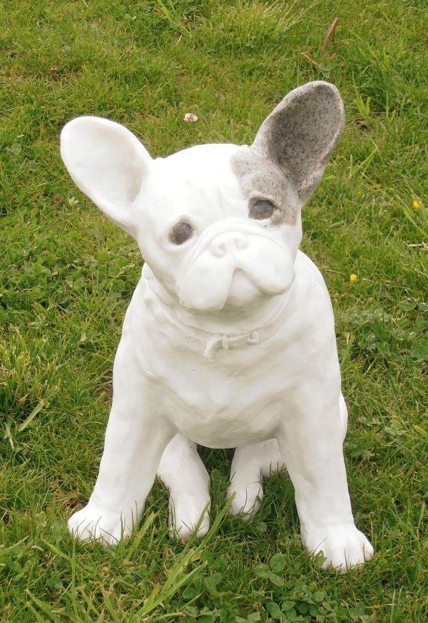 Marble Granite Resin Dog Sculpture By Artist Christine Close