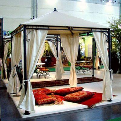 Garten-Pavillon ALI-3, wetterfest, H335 x B350 x T350 cm, Metall/PVC, anthrazit/ecru - Kauftipp Preisvergleich