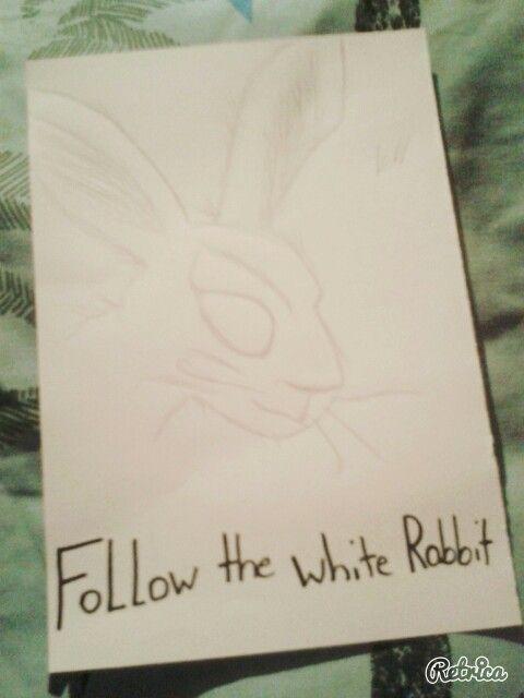 Alice im wunderland   #gezeichnet#rabbit#followthewhiterabbit #creepy #aliceimwunderland