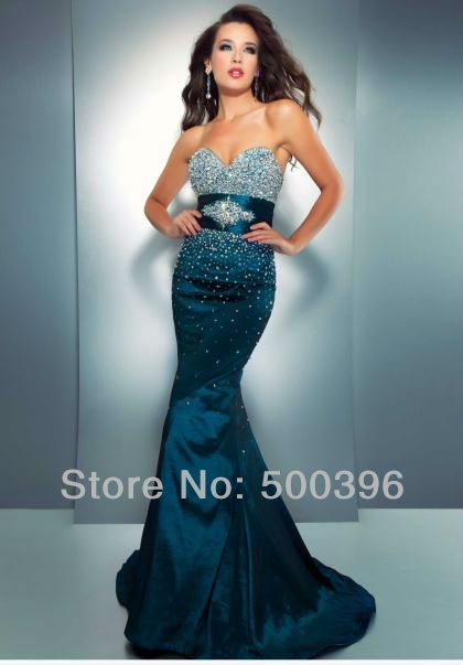 Aliexpress.com   Buy Sparkle Beaded Sweetheart Rhinestone Belt Emerald Green  Mermaid Prom Dress 2013 New Arrival Free Shipping from Reliable prom dress  free ... 4d12fbc216e8