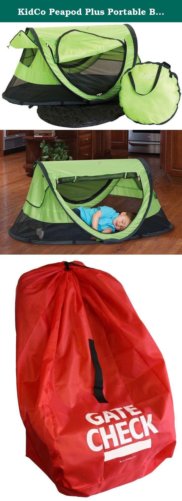 KidCo Peapod Plus Portable Bed with Bonus Gate Check Bag Kiwi. A bigger version & KidCo Peapod Plus Portable Bed with Bonus Gate Check Bag Kiwi. A ...
