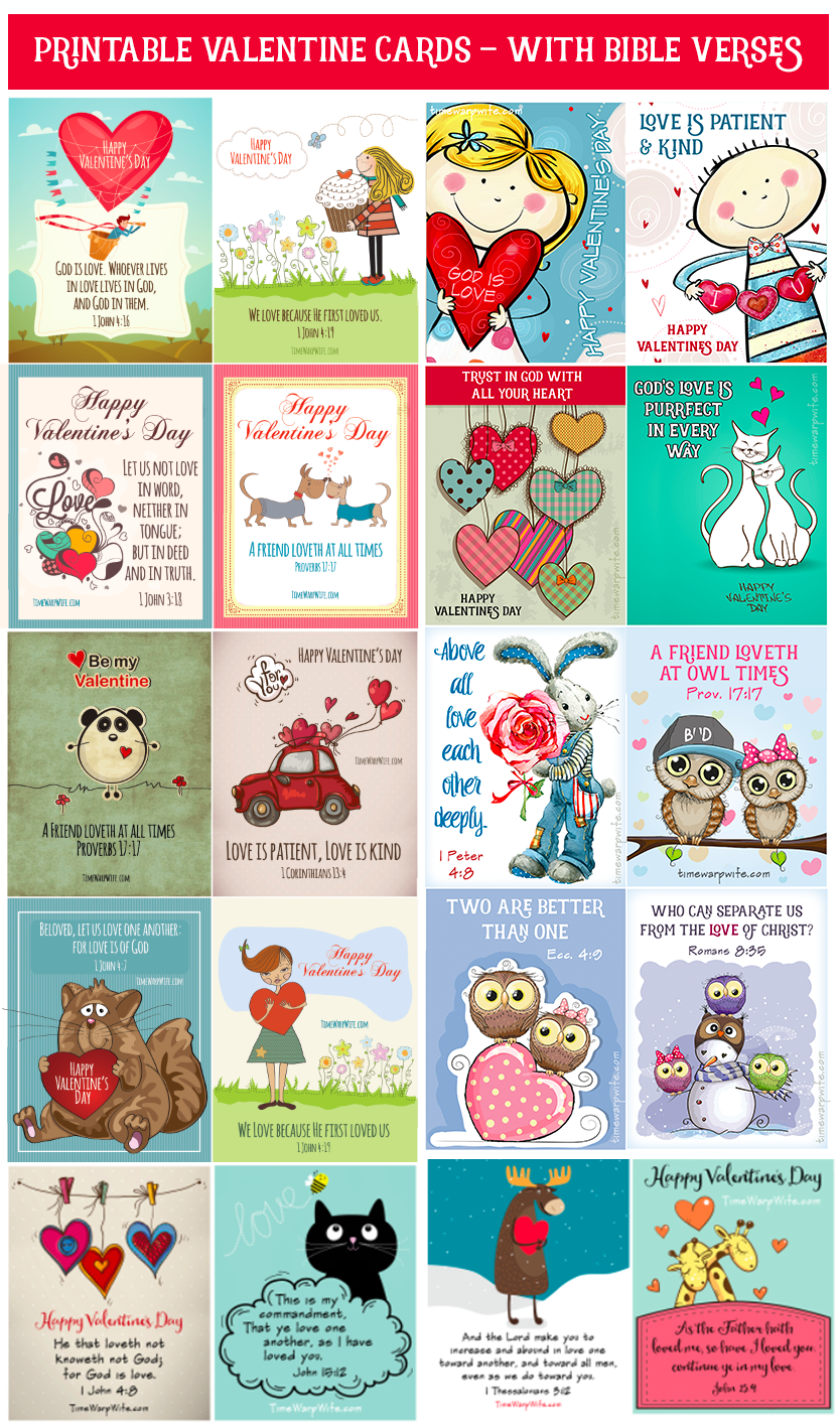 Free Printable Valentine S With Bible Verses Day Of Amour