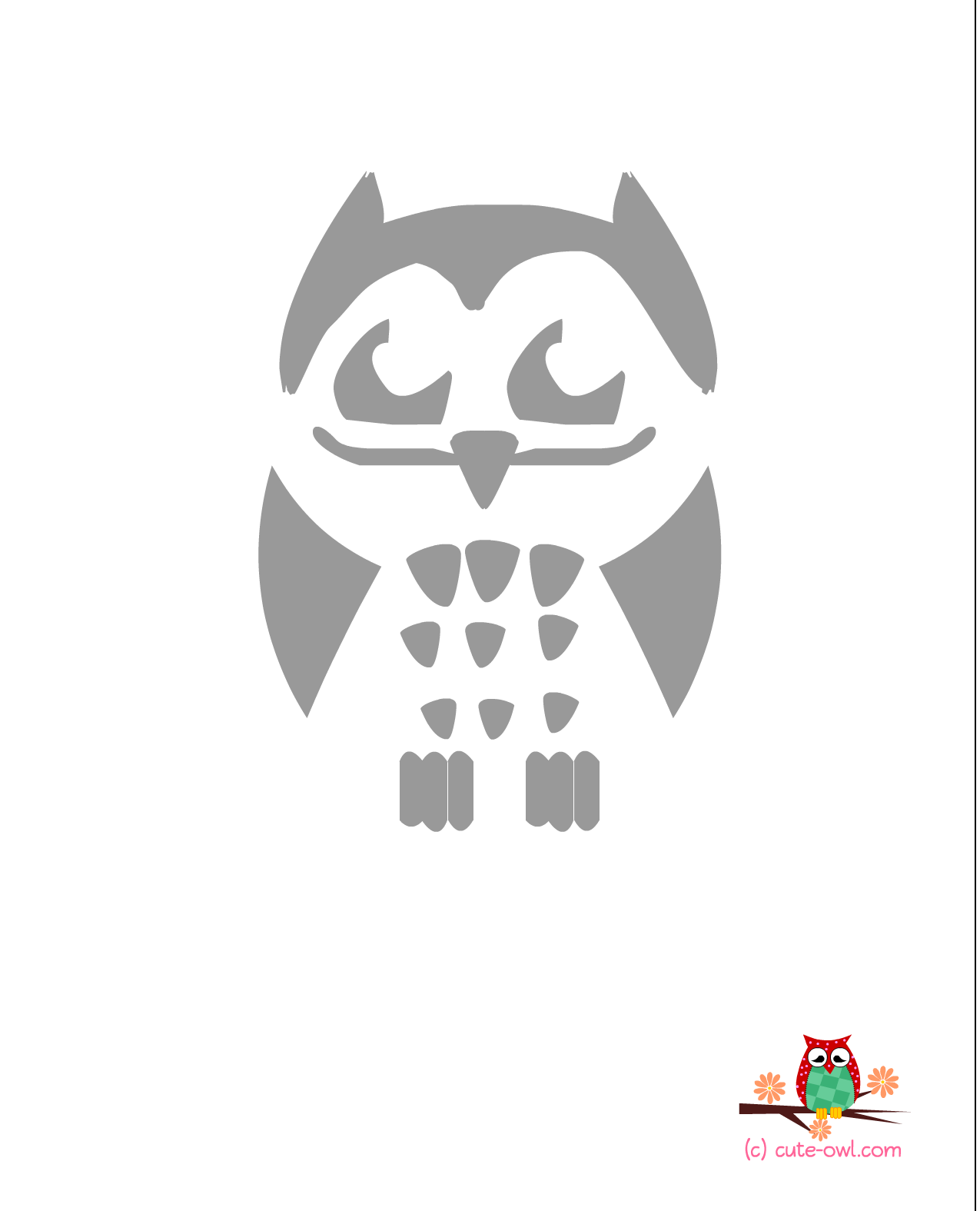 photograph regarding Printable Owl Stencil named 9 Ideal Shots of Lovely Printable Strategies - Rangoli Programs