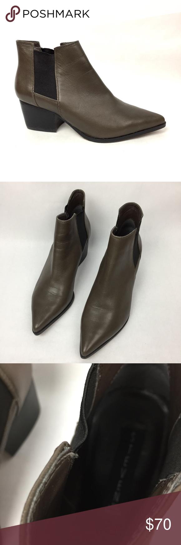 STEVEN Steve Madden Macks Leather Chelsea Boots 7