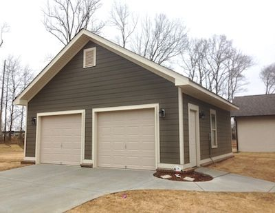 Enclosed Garage Idea Small Out Buildings Car Ports Garages Sherrod Drawings With Images Backyard Garage Finished Garage Carport