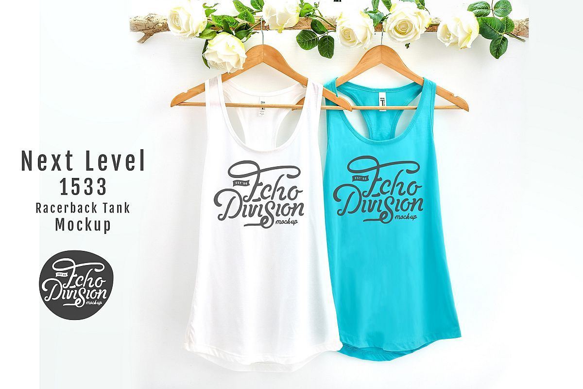 Download Couple Tank Top Mockup Next Level 1533 Example Image 1